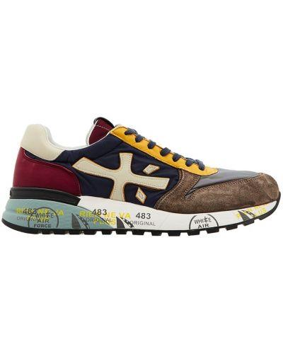 Кожаные кроссовки замшевые текстильные Premiata