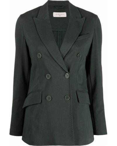 Зеленый удлиненный пиджак двубортный с карманами Circolo 1901