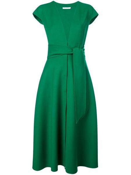 Платье мини миди с декольте Oscar De La Renta