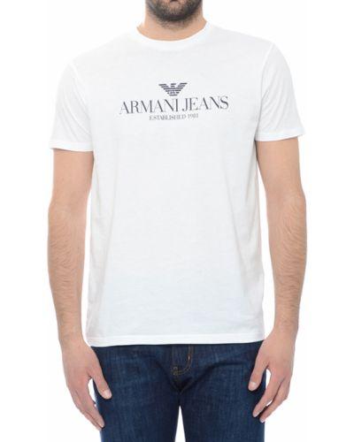 Футболка хлопковая белый Armani Jeans