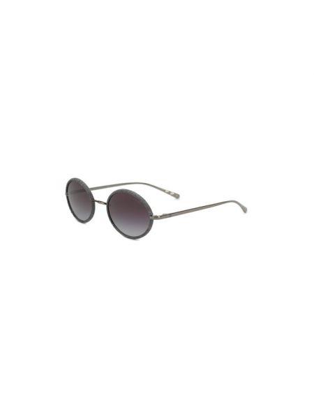 Комбинированные серые солнцезащитные очки металлические Chanel