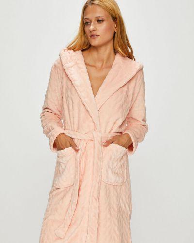 Розовый халат с капюшоном Henderson Ladies