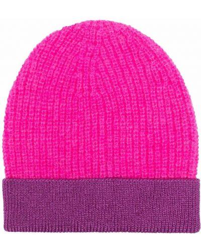 Fioletowa czapka moherowa Pinko