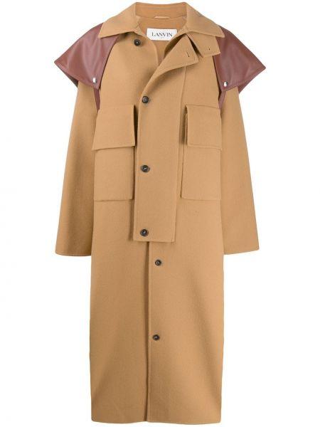 Кашемировое пальто классическое оверсайз с капюшоном Lanvin