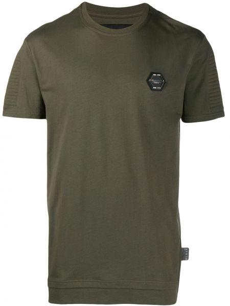 Koszula krótkie z krótkim rękawem z logo zielona Philipp Plein