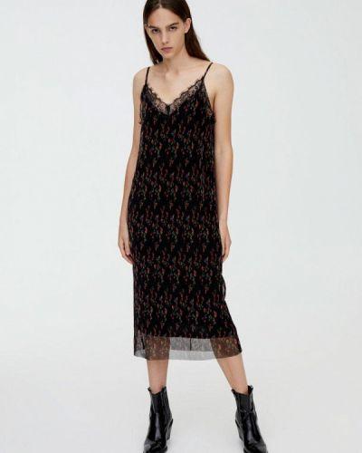 Платье платье-комбинация осеннее Pull&bear