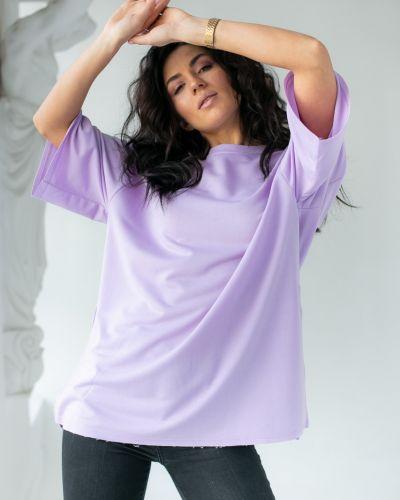 Фиолетовая футболка свободного кроя Clew