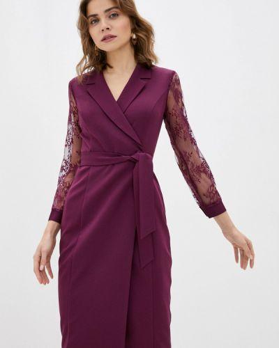 Фиолетовое платье с запахом Vittoria Vicci