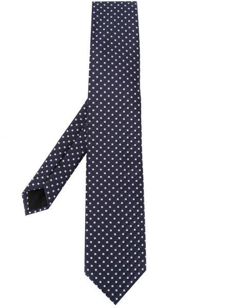 Шелковый синий галстук Boss