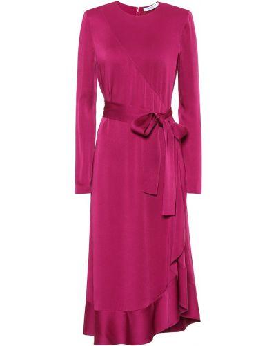 Fioletowy sukienka midi z wiskozy Givenchy
