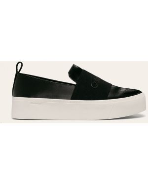 Sneakersy na platformie tekstylne Calvin Klein