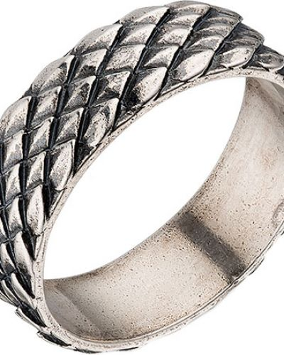 Кольцо серебряный с декоративной отделкой Ku&ku