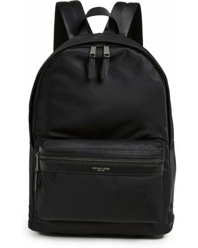 Текстильный черный рюкзак с карманами Michael Kors