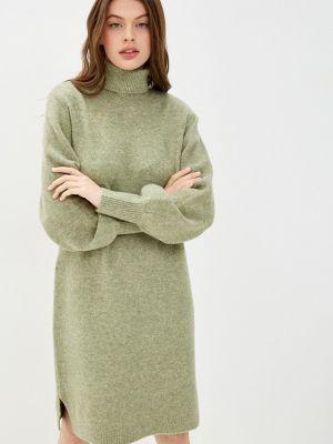 Вязаное платье - зеленое Pieces