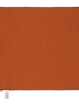 Pomarańczowy szalik bawełniany w grochy Caramel