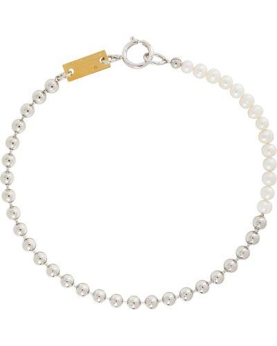 Белое ожерелье с жемчугом In Gold We Trust Paris