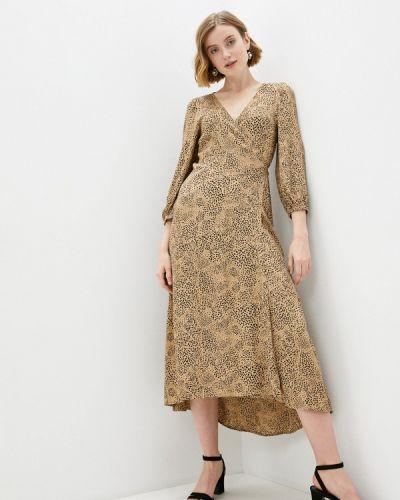 Бежевое платье с запахом Gap