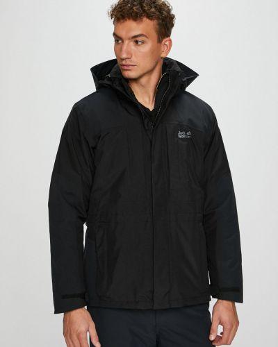 Утепленная куртка с капюшоном укороченная Jack Wolfskin
