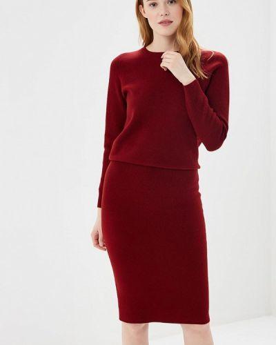 Юбочный костюм бордовый красный Lorani