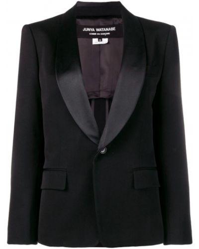Черный классический пиджак с карманами на пуговицах Junya Watanabe