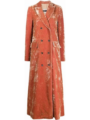 Оранжевое пальто из вискозы Uma Wang