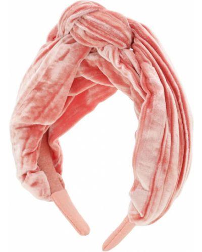 Różowy aksamit opaska na głowę Tia Cibani