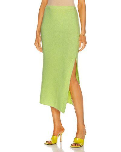 Кашемировая зеленая юбка на резинке The Elder Statesman