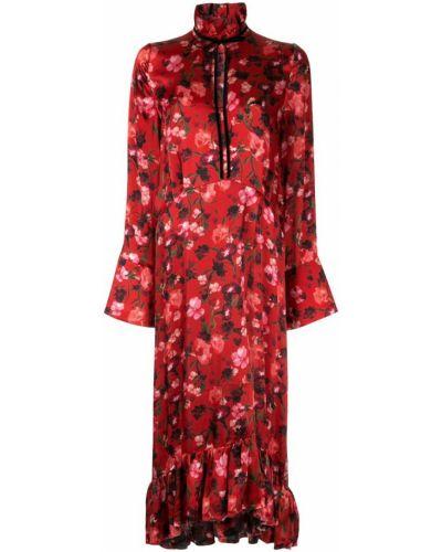 Платье миди с баской с цветочным принтом Mother Of Pearl