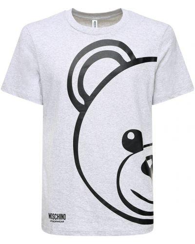 T-shirt bawełniany z printem Moschino Underwear
