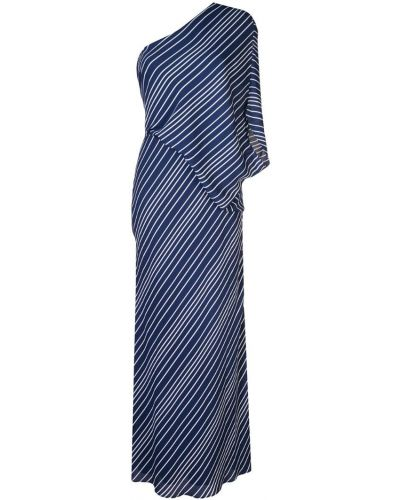 Платье макси на одно плечо в полоску Halston Heritage