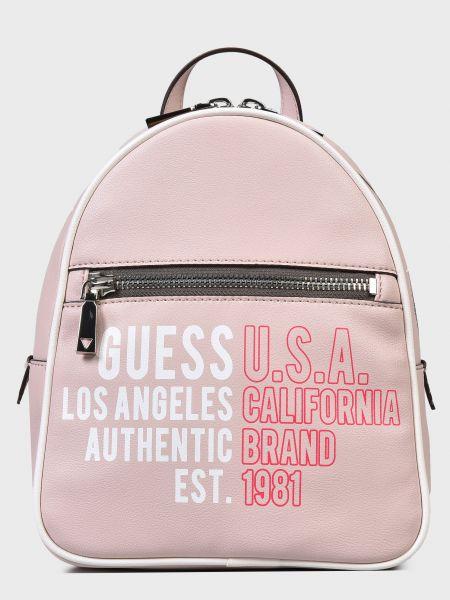 Кожаный рюкзак - розовый Guess