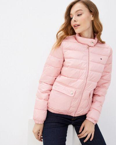 Розовая зимняя куртка Tommy Hilfiger