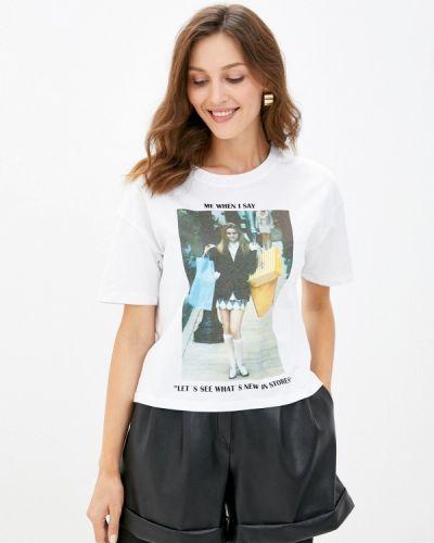 Белая футболка с короткими рукавами Pimkie