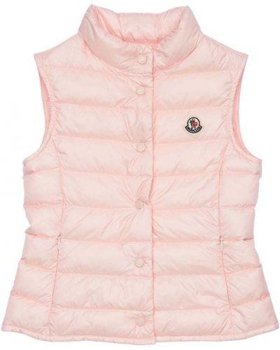 Розовая жилетка с подкладкой на молнии Moncler
