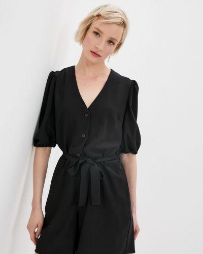 Черный комбинезон с шортами Befree