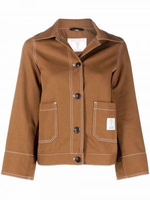 Хлопковая джинсовая куртка - коричневая SociÉtÉ Anonyme