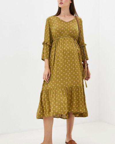 Зеленое прямое платье для беременных Mama.licious