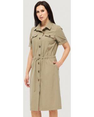 Платье платье-рубашка зеленый Danna