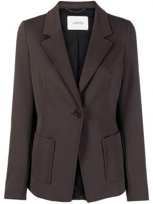 Коричневый удлиненный пиджак с воротником на пуговицах Dorothee Schumacher