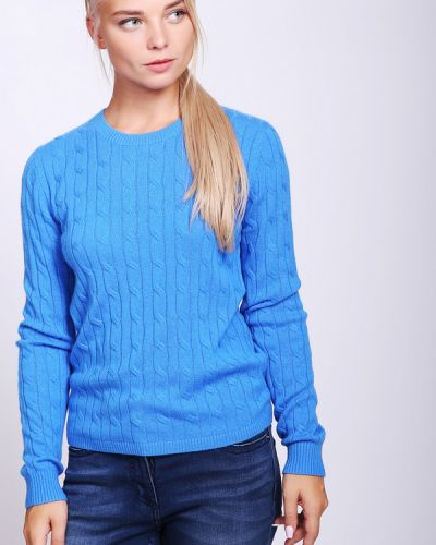 Голубой пуловер кашемировый Just Valeri