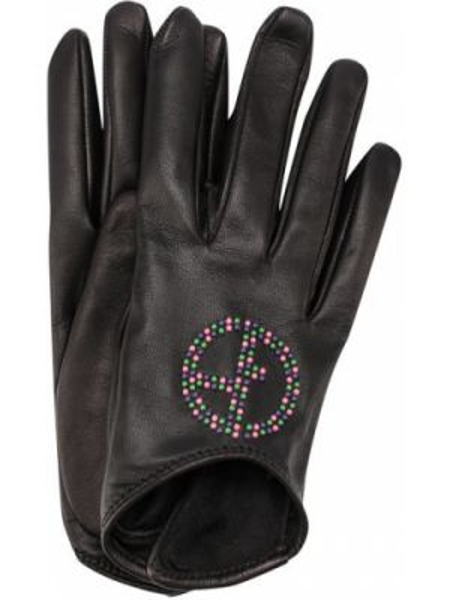 Кожаные перчатки короткие Giorgio Armani