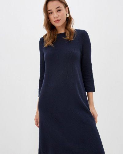 Синее вязаное платье Marc O'polo