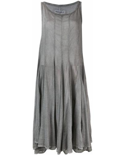 Платье миди серое платье-солнце Rundholz