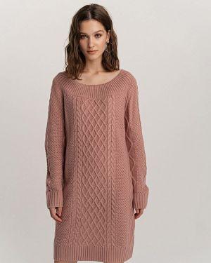 Розовое вязаное платье Befree