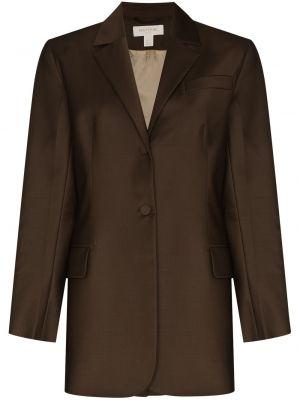Шерстяной однобортный коричневый пиджак Matériel