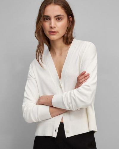 Biały z kaszmiru sweter Marc O Polo