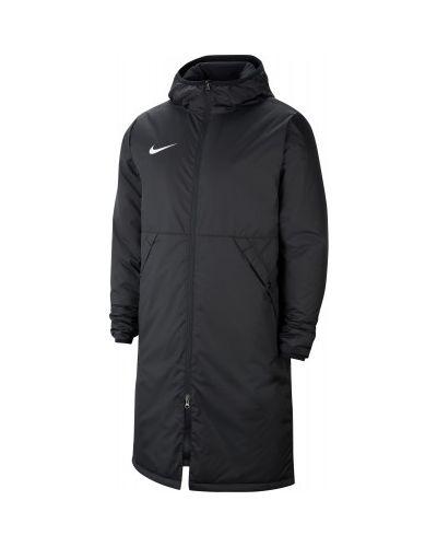 Черная утепленная длинная куртка Nike