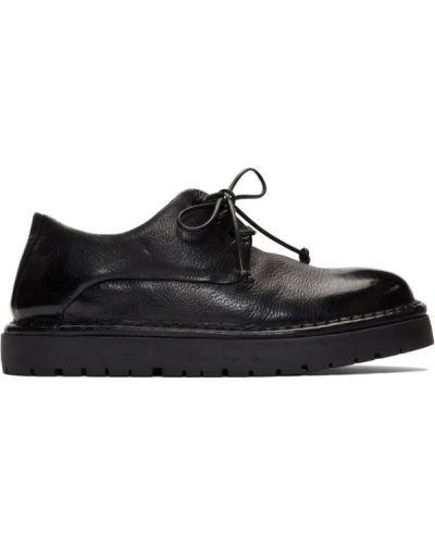 Черные оксфорды на шнуровке с круглым носом Marsèll