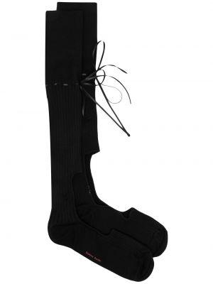 Носки в рубчик - черные Simone Rocha