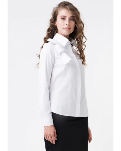 Белая рубашка с длинным рукавом Ricamare